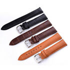 Fashion 6 Sizes Width Genuine Leather Watch Band Solid Strap Men Women Watchband image