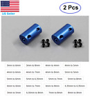 2 pcs Aluminum Blue Shaft Coupling Rigid Coupler Motor Connector CNC DIY