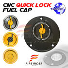 Gold Quick Lock Fuel Cap For Ducati Desmosedici RR All Year 07 08 09