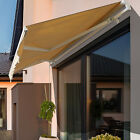 Outsunny 12' x 10' Outdoor Patio Manual Retractable Exterior Window Awning