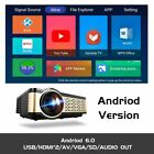 Projector Portable HD Android WIFI Bluetooth Cinema Beamer Support HDMI USB VGA