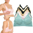 3 Womens Wire Free Nursing Bra Maternity Breastfeeding Pregnant Underwear M L XL