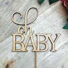 CLEARANCE! 1 ONLY Timber Oh Baby Cake Topper Cake Decoration Baby Shower Cake To
