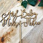 CLEARANCE! 1 ONLY Timber And Baby Makes Three Cake Topper Baby Shower Cake Toppe