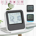 digital lcd travel folding desk alarm clock timer w snooze calendar thermometer