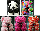 Rose Bear 9 Inch Mother's Day Birthday Gifts Artificial Romantic Flower Teddy