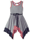 Bonnie Jean Big Girls Americana 4th of July Patriotic Summer Dress 7 - 16 new