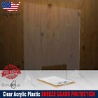 SNEEZE GUARD Clear Acrylic Plastic Cashier Barrier Partition Cashier Shield