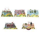 41Pcs+Military+4cm+Figures+Army+Men+Plastic+Toy+Soldier+Play+Set+%26+2+Flags