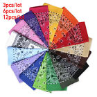 Bandana Face Mask Cover Head Wrap Scarf 100 Cotton Paisley 3 to 12 PCS