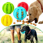 Pet Dog Puppy Teething Dental Health Treat Clean Toy Durable Rubber Chew Ball UK