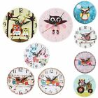 2020 Wooden Owl Tree Wall Clock Large Vintage Kitchen Nursery Kids Home Decor