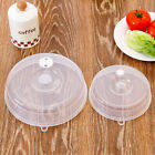 Clear Plastic Lid Kitchen Plate Vented Microwave Splatter Splatter Food Cover