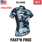 Camo Cycling Short Sleeve Jersey Men Jerseys Bike Riding MTB Road Shirt Clothing