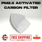 UK Face Cover PM2.5 Activated Carbon Filter Replace Breath Insert  Filter