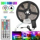 Kyпить 32FT Flexible Strip Light 3528 RGB LED SMD Remote Fairy Lights Room TV Party Bar на еВаy.соm