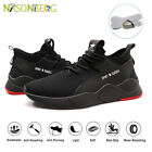 Mens Safety Shoes Trainers Steel Toe Work Boots Lightweight Hiking Sneakers