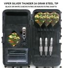Viper Darts 24 gm Silver Thunder Steel Tip Dart Set-Military Camouflage Flights