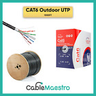 CAT6 Cable Outdoor 500FT 1000FT UTP FTP Ethernet 23 AWG Direct Burial Bulk