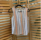 NWT Striped Tank Buttons in Back
