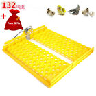 132pcs Quail Egg Automatic Egg Turner Tray for Auto Incubator Hatch Machine PP
