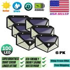 100 LED PIR Motion Sensor Wall Light Solar Power Waterproof Outdoor Garden Lamp
