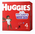 Huggies Unisex Baby Diaper ® Little Movers Size 4 Disposable Moderate Absorbency