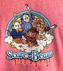 Scare Bear funny t-shirt for horror lovers pink image