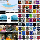 Various Multi-use Tube Scarf Bandana Head Face Mask Neck Gaiter Head Wear Summer
