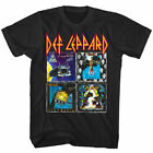 Def Leppard 80s Album Covers Rock Band Concert Men's T-shirt Size S-3XL image