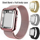 Kyпить For Apple Watch 5/4/3/2/6 Steel Band Strap+Screen Protector Case 38/40/42/44mm  на еВаy.соm