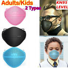 2types Adults Kids Face Cover Face Shield W/ Filter Pad Washable Anti Smoke Dust