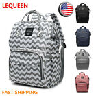 US LEQUEEN Mummy Waterproof Baby Diaper Bag Maternity Nappy Travel Backpack Tote