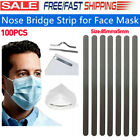 Kyпить 100PCS Nose Bridge Strip Flat Aluminum Wrie W/Adhesive For Face Mask Diy 85mm US на еВаy.соm