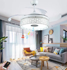 """36/42"""" Bluetooth Invisible Ceiling Fan Light LED Music Player Chandelier +Remote"""