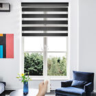 Motorized Zebra Sheer Window Blind Home Automated Day and Night Roller Shade
