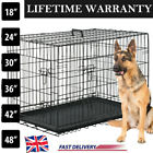 Dog Cage Pet Puppy Crate Carrier Home Folding Door Training Kennel-S M L XL XXL