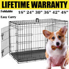 Dog Cage Pet Puppy Crate Carrier Home Folding Door Training Kennel-S M L XL XXL❤