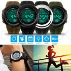Men's Digital Sports Outdoor Watch Military Army Waterproof Fashion Alarm LED