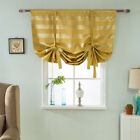 Bathroom Kitchen Small Window Curtain Tie Up Adjustable Roman Blind 117x160cm