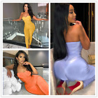 NEW Stylish Women Off Shoulder Draped Solid Color Bodycon Clubwear Jumpsuit