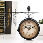 1pc Double Sided Wall Clock Central Station Round Grand Wall Clock Garden