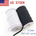 200 Yards Flat Elastic Band 3/5mm Stretch Rubber Strap Cord Diy Sewing Making Us