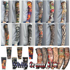 Cooling Tattoo Arm Sleeves Cover Basketball Outdoor Sport Uv Sun Protection Us