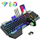 Wireless Gaming Keyboard and Mouse,RGB Backlit Rechargeable Keyboard!