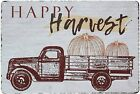Happy Harvest Funny Truck Pumpkin Retro Vintage Metal Tin Sign Wall