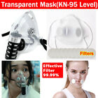 2 Types Transparent Mask Anti-droplets Reusable Face Mouth Cover W/ Filters Us
