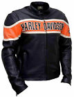 MEN'S BLACK CLASSIC HARLEY DAVIDSON VICTORY LANE MOTORCYCLE LEATHER JACKET