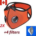 Sport masks [ 2 pack], 4 breathing valves + 4 filters [ Original Type]- Reusable