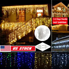 Outdoor 3-5M LED Curtain icicle Christmas LED Curtain Fairy Icicle String Lights
